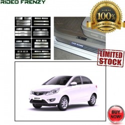 Door Stainless Steel Sill Plate with Blue LED for Tata Zest