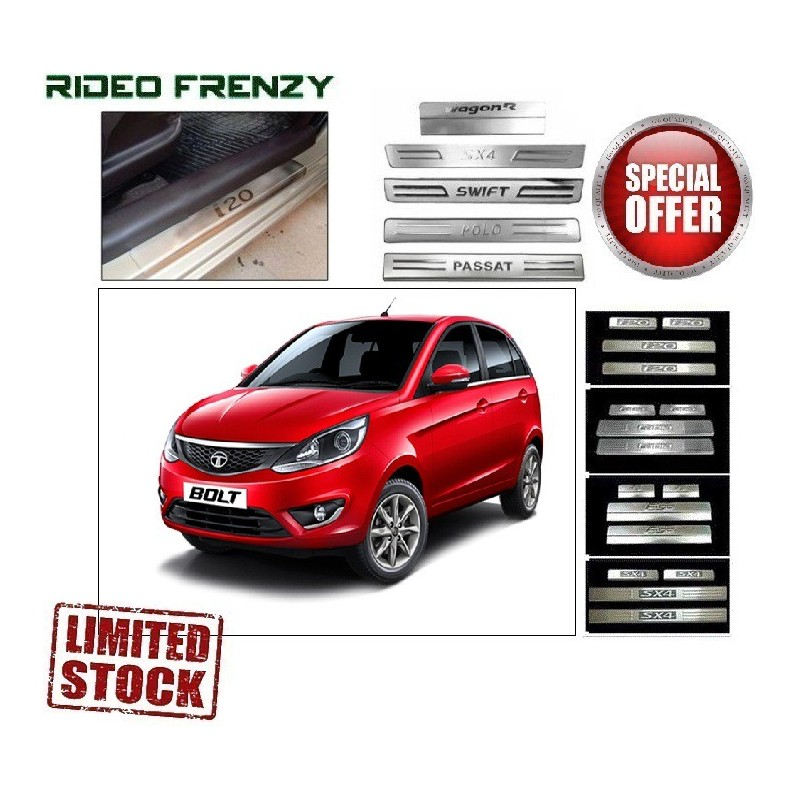 Buy Tata Bolt Door Stainless Steel Sill Plate online at low prices-RideoFrenzy