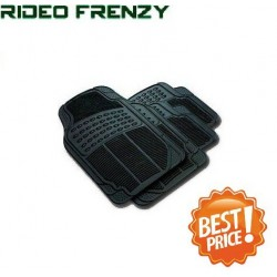 Buy Ruf & Tuf Modesto Black Rubber Floor Mats-4 pieces at low prices-RideoFrenzy