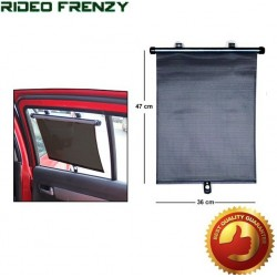 Roller Type Retractable BLACK Side WINDOW Sun Shade
