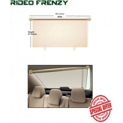 Buy Beige Car Rear Window Sunshade at low prices-RideoFrenzy