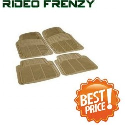 Buy Buy Ruf & Tuf Modesto Beige Rubber Floor Mats-4 pieces at low prices-RideoFrenzy