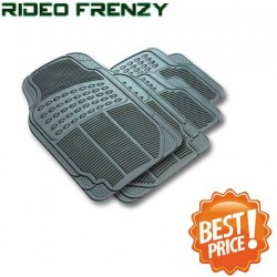 Buy Ruf & Tuf Modesto Gray Rubber Floor Mats-4 pieces at low prices-RideoFrenzy