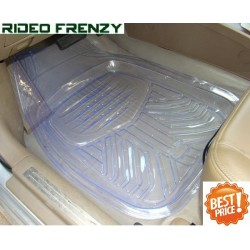 Buy Ruf & Tuf Modesto Transparent Rubber Floor Mats-4 pieces at low prices-RideoFrenzy