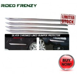 Buy Slim Line Silver Chrome Bumper Protectors at low prices-RideoFrenzy