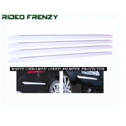 WHITE CHROMED LINED BUMPER PROTECTOR