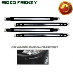 Buy Chrome Wrapped Black Bumper Protectors at low prices-RideoFrenzy