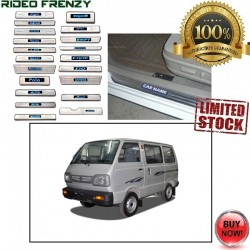 Buy Maruti Omni Van Door Stainless Steel Sill Plate with Blue LED at low prices-RideoFrenzy