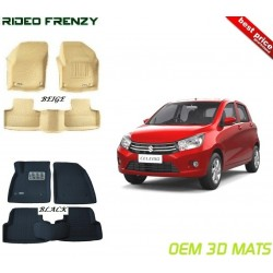 Ultra Light Bucket 4D Crocodile Floor Mats for Maruti Celerio
