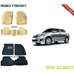 Ultra Light Bucket 4D Crocodile Floor Mats for Swift Dzire