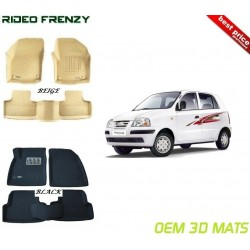 Ultra Light Bucket 4D Crocodile Floor Mats for Hyundai Santro