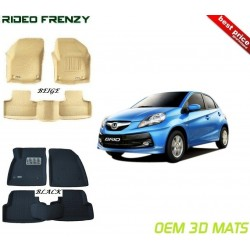 Ultra Light Bucket 3D Floor Mats for Honda Brio