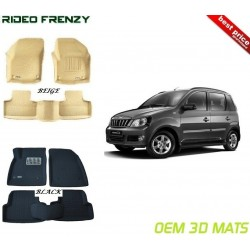 Ultra Light Bucket 3D Floor Mats for Mahindra Quanto