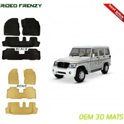 Ultra Light Bucket 4D Crocodile Floor Mats for Mahindra Bolero
