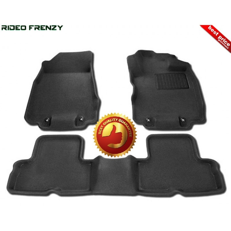 Ultra Light Bucket 4D Crocodile Floor Mats for Renault Lodgy