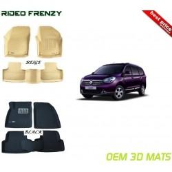Ultra Light Bucket 3D Floor Mats for Renault Lodgy
