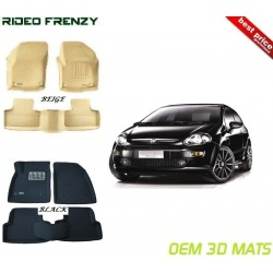 Ultra Light Bucket 4D Crocodile Floor Mats for Fiat Punto