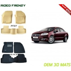 Ultra Light Bucket 4D Crocodile Floor Mats for Fiat Linea