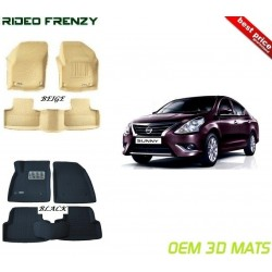 Ultra Light Bucket 4D Crocodile Floor Mats for Nissan Sunny