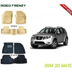 Ultra Light Bucket 4D Crocodile Floor Mats for Nissan Terrano