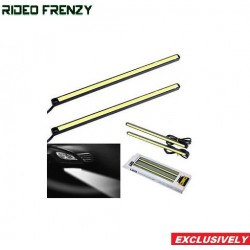Buy White Color Waterproof LED Daytime Running Light (DRL) Strip for All Cars at low prices-RideoFrenzy