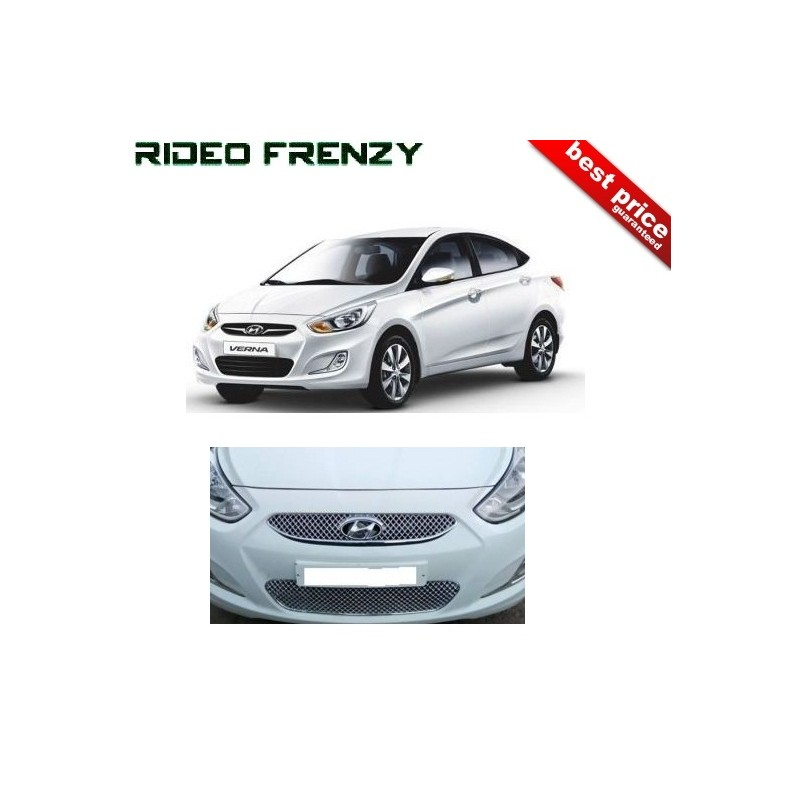 Buy Premium Quality Fluidic Verna Chrome Grill Covers at low prices-RideoFrenzy