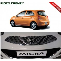 Buy Premium Glossy Finish Nissan Micra Front Chrome Grill at low prices-RideoFrenzy