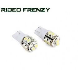 2 Pcs. 10 SMD LED Bulb 12 Volt DC Bike Car Indicator Parking