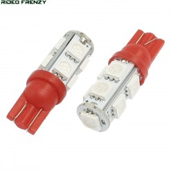 2 Pcs. 10 SMD LED Bulb 12 Volt DC Bike Car Indicator Parking