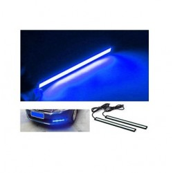 Buy Blue Color Waterproof LED Daytime Running Light DRL Strip at low prices-RideoFrenzy