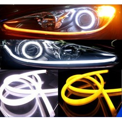 Buy Flexible Dual Color LED Daytime Running Light-DRL at low prices-RideoFrenzy