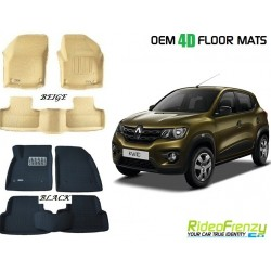 Ultra Light Bucket 4D Crocodile Floor Mats for Renault Kwid