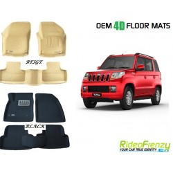 Ultra Light Bucket 4D Crocodile Floor Mats for Mahindra TUV300