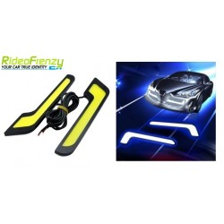 WATERPROOF Blue Daytime Running Light-U Shape