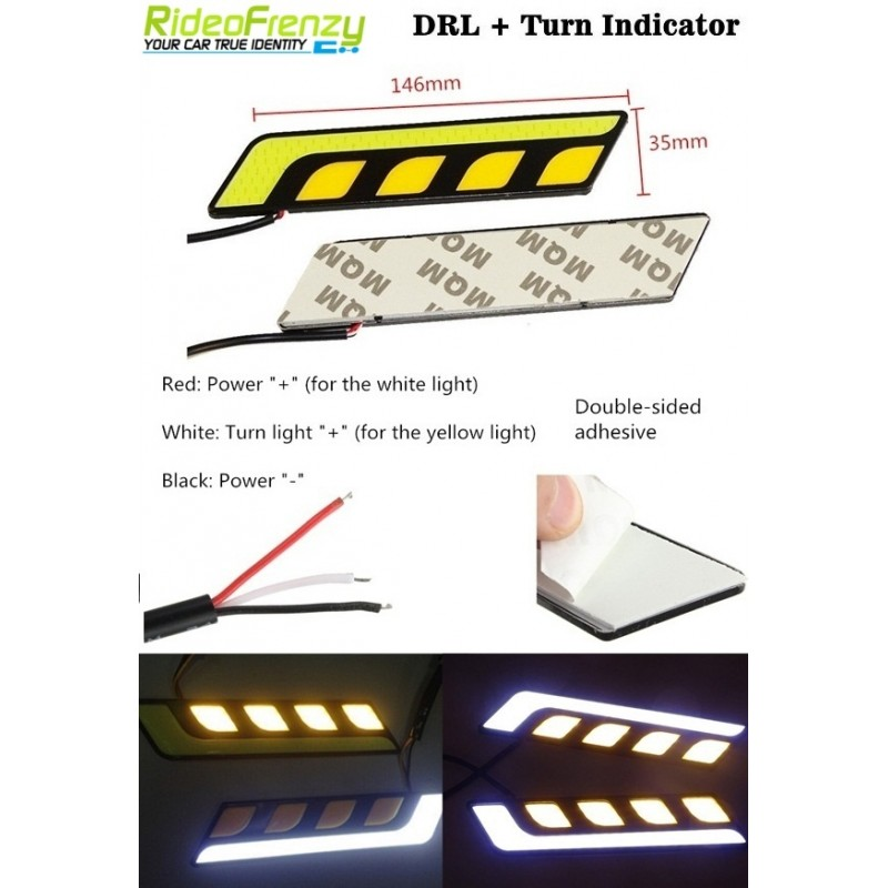 Buy Waterproof Dual Color Daytime Running Light DRL at low prices-RideoFrenzy