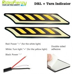 Buy Waterproof Dual Color Daytime Running Light-Curvy at low prices-RideoFrenzy