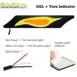 Buy Waterproof CAT EYE Dual Color Daytime Running Light DRL at low prices-RideoFrenzy