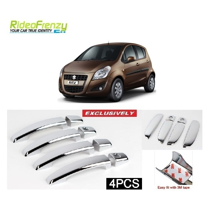 Buy Maruti Ritz Chrome Handle Covers online at low prices-RideoFrenzy