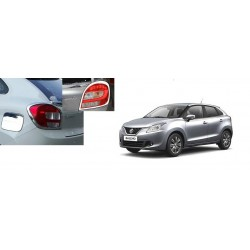 Buy Maruti Baleno Chrome Tail Light Covers-Triple Layered Chrome plating at low prices-RideoFrenzy