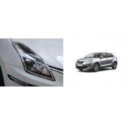 Buy Maruti Baleno Chrome HeadLight Covers-Triple Layered Chrome plating at low prices-RideoFrenzy