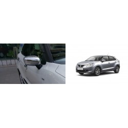 Buy Maruti New Baleno Chrome Mirror Covers-Triple Layered Chrome Plating at low prices-RideoFrenzy