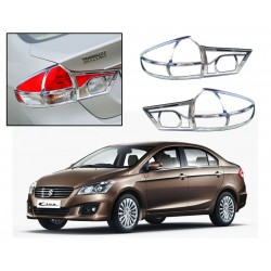 Buy Maruti Ciaz Chrome Tail Light Covers at low prices-RideoFrenzy