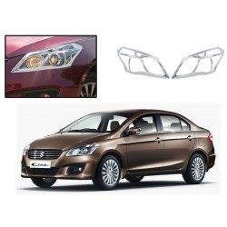 Buy Premium Maruti Ciaz Chrome HeadLight Covers at low prices-RideoFrenzy