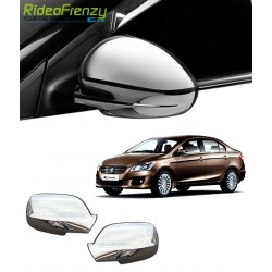 Buy Triple Layered Maruti Ciaz Chrome Mirror Covers at low prices-RideoFrenzy