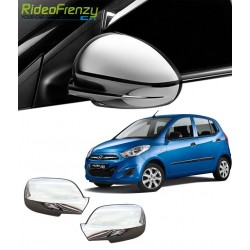 Buy Triple Layered Hyundai i10 Chrome Mirror Covers at low prices-RideoFrenzy