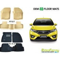 Ultra Light Bucket 4D Crocodile Floor Mats for Honda Jazz