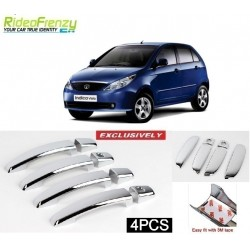 Buy Tata Indica Vista Door Chrome Handle Covers online at low prices-RideoFrenzy