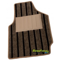 Premium Beige Feel Carpet Floor Mats