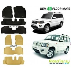 Ultra Light Bucket 4D Crocodile Floor Mats for Mahindra Scorpio