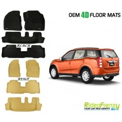 Ultra Light Bucket 4D Crocodile Floor Mats for Mahindra XUV500